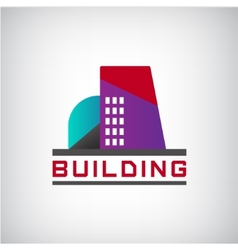 building logo colorful construction vector image