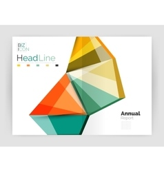 Business annual report abstract backgrounds vector image