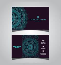 business card with elegant mandala design vector image