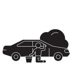 car repair black concept icon car repair vector image