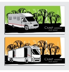 Cars Recreational Vehicles Camper vector