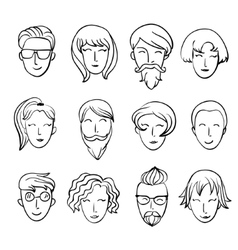 Cartoon people Characters design vector image