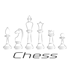 Chess board Game Icon set vector