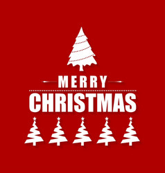 christmas greetings card with red background and vector image