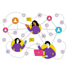 concept using various gadgets and network vector image