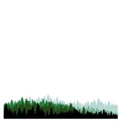 Cool landscape silhoutte tree forest cartoon vector