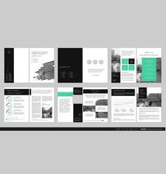 Cover design annual report flyer brochure vector