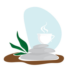 cup with infusion vector image vector image