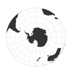 Earth globe focused on antarctica and south vector