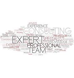 expert word cloud concept vector image