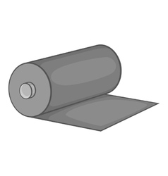 Fabric roll icon black monochrome style vector