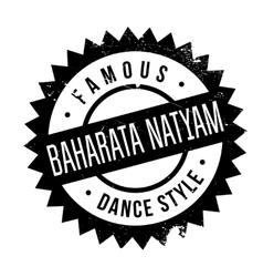 Famous dance style Baharata Natyam stamp vector image