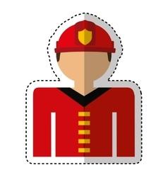 Fireman avatar character icon vector