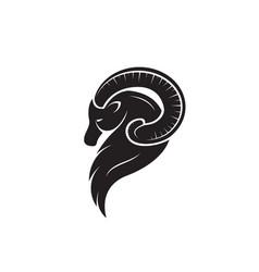 Goat head design on white background easy vector