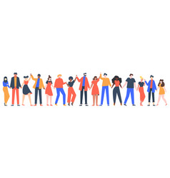 group smiling people team young men vector image