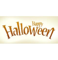 Halloween lettering vector