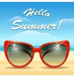 Hello Summer Theme vector image