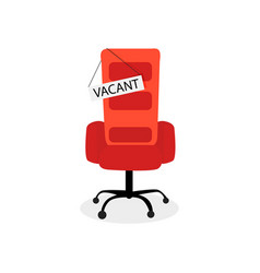 Hiring job vacant seat isolated on white vector