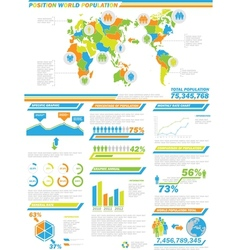 Infographic demographics population 2 special vector