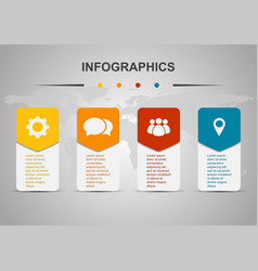 Infographic design template with rounded vector