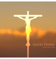 Jesus christ crucifixion on good friday vector