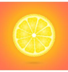 Lemon icon on a orange vector image
