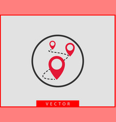 Map icons marker pointer pin location icon gps vector