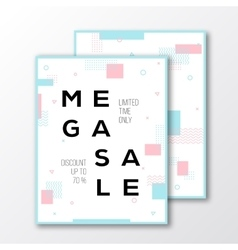 Mega Sale Season Poster Card or Flyer Template vector image
