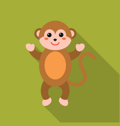 monkey flat icon for web and mobile vector image