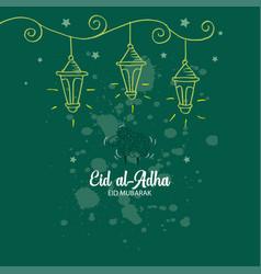 muslim community festival eid-ul-adha celebrations vector image