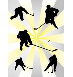NHL ice hockey vector image