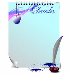 note page December vector image vector image