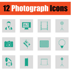 Photography icon set vector