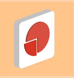 pie chart computer symbol vector image