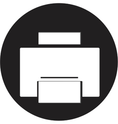 Printer icon vector