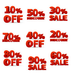 promotional discount store signs with price vector image