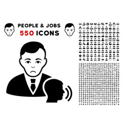 Psychotherapist visit icon with bonus vector