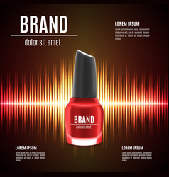 red nail polish template vector image