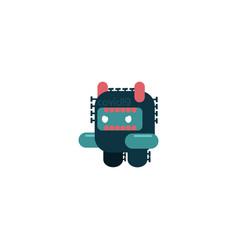 Robot coronavirus cartoon design vector
