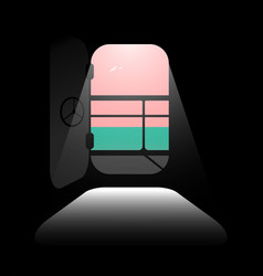 Sea or ocean cruise minimalist background concept vector