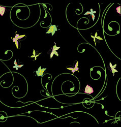 Seamless background decorative tendrils and vector