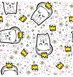 Seamless pattern doodle vector