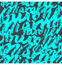 Seamless pattern graffiti Miami vector image