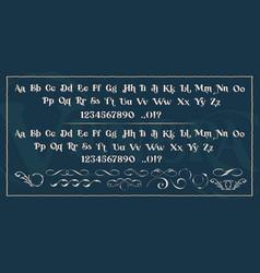 set decorative typefaces vector image