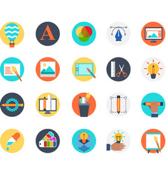 set of creativity design icon for bussiness vector image