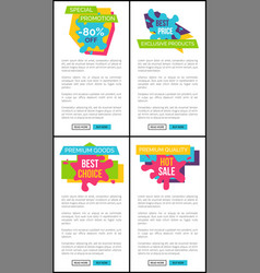 set of price labels special promotion web posters vector image