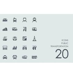 Set of public transportation icons vector image