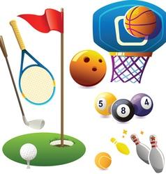 set sport symbols vector image