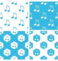 Sixteenth note patterns set vector