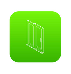 sliding door icon green vector image